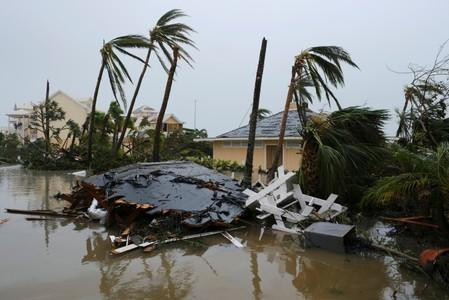FILE PHOTO: Damage at the Abaco Beach Resort during the eye of Hurricane Dorian in Marsh Harbour