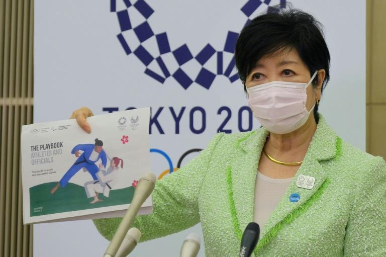 Tokyo Governor Yuriko Koike unveiled the Olympics 'playbook' aimed at stopping virus outbreaks