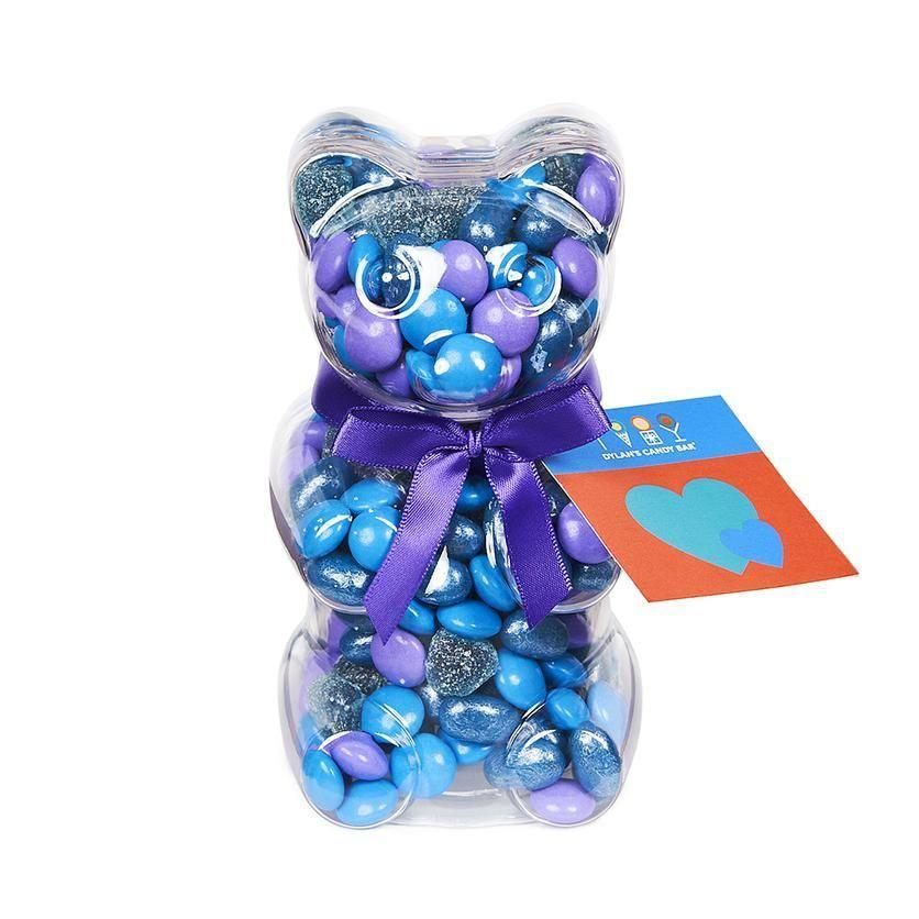 """<p><strong>Dylan's Candy Bar</strong></p><p>dylanscandybar.com</p><p><strong>$12.00</strong></p><p><a href=""""https://go.redirectingat.com?id=74968X1596630&url=https%3A%2F%2Fwww.dylanscandybar.com%2Fcollections%2Fvalentines-day%2Fproducts%2Fbe-mine-bear&sref=https%3A%2F%2Fwww.bestproducts.com%2Feats%2Ffood%2Fg904%2Fvalentines-day-candy%2F"""" rel=""""nofollow noopener"""" target=""""_blank"""" data-ylk=""""slk:Shop Now"""" class=""""link rapid-noclick-resp"""">Shop Now</a></p><p>This bear-y special Valentine's Day candy pick from Dylan's Candy Bar is chock full of sour, chocolate, and fruity treats, all packed in a reusable bear-shaped container. </p>"""