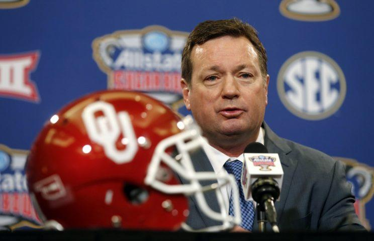 Bob Stoops is retiring after 18 seasons at Oklahoma. (AP Photo/Gerald Herbert)