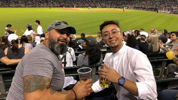PHOTO: Zeke Acosta and his father at a White Sox's game. (Courtesy of Zeke Acosta)