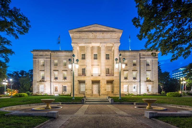 North Carolina's Capitol, in Raleigh. The state's congressional map, one of the most severely gerrymandered in the country, was ruled unconstitutional by a federal court on Aug. 27. (Mlenny / Getty Images)