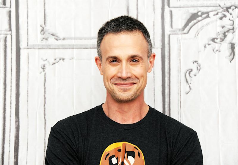 NEW YORK, NY - JUNE 07: Actor Freddie Prinze, Jr. discusses his new cookbook 'Back to the Kitchen' during AOL Build Speaker Series at AOL Studios In New York on June 7, 2016 in New York City. (Photo by Desiree Navarro/WireImage)