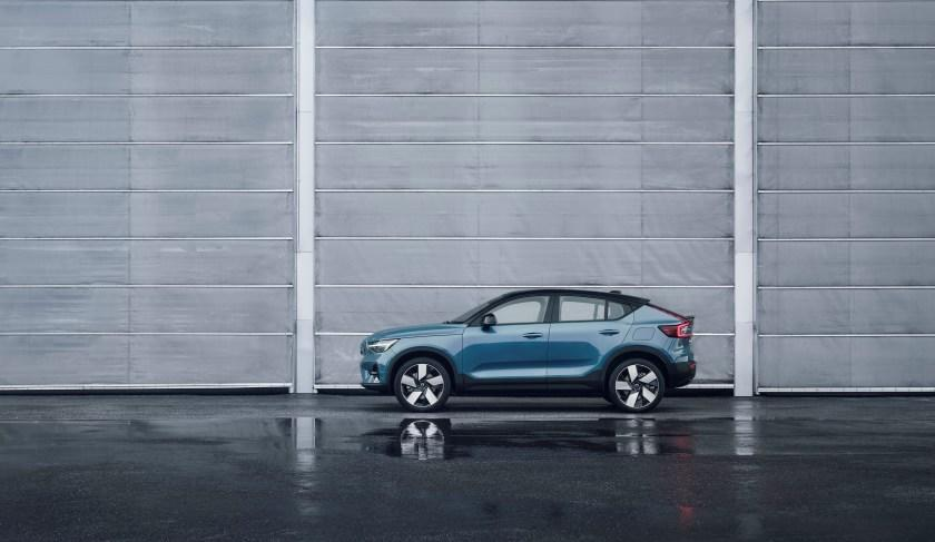 """The Volvo C40 Recharge has four doors but its sloping roof makes it a """"coupe."""""""