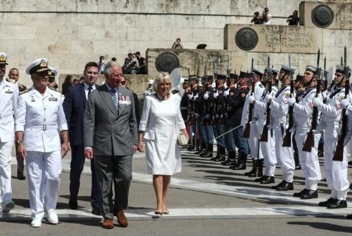 Prince Charles and his wife Camilla visited the Tomb of the Unknown Soldier in Athens during a three-day official visit