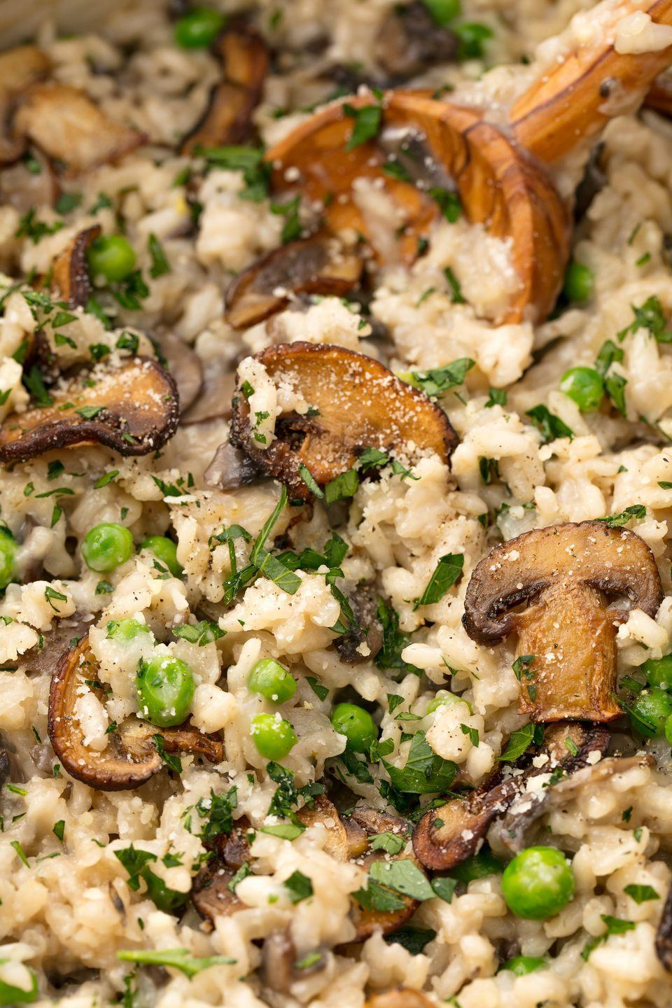 "<p>Just keep stirring. </p><p>Get the recipe from <a href=""https://www.delish.com/cooking/recipe-ideas/recipes/a55215/easy-mushroom-risotto-recipe/"" rel=""nofollow noopener"" target=""_blank"" data-ylk=""slk:Delish"" class=""link rapid-noclick-resp"">Delish</a>. </p>"