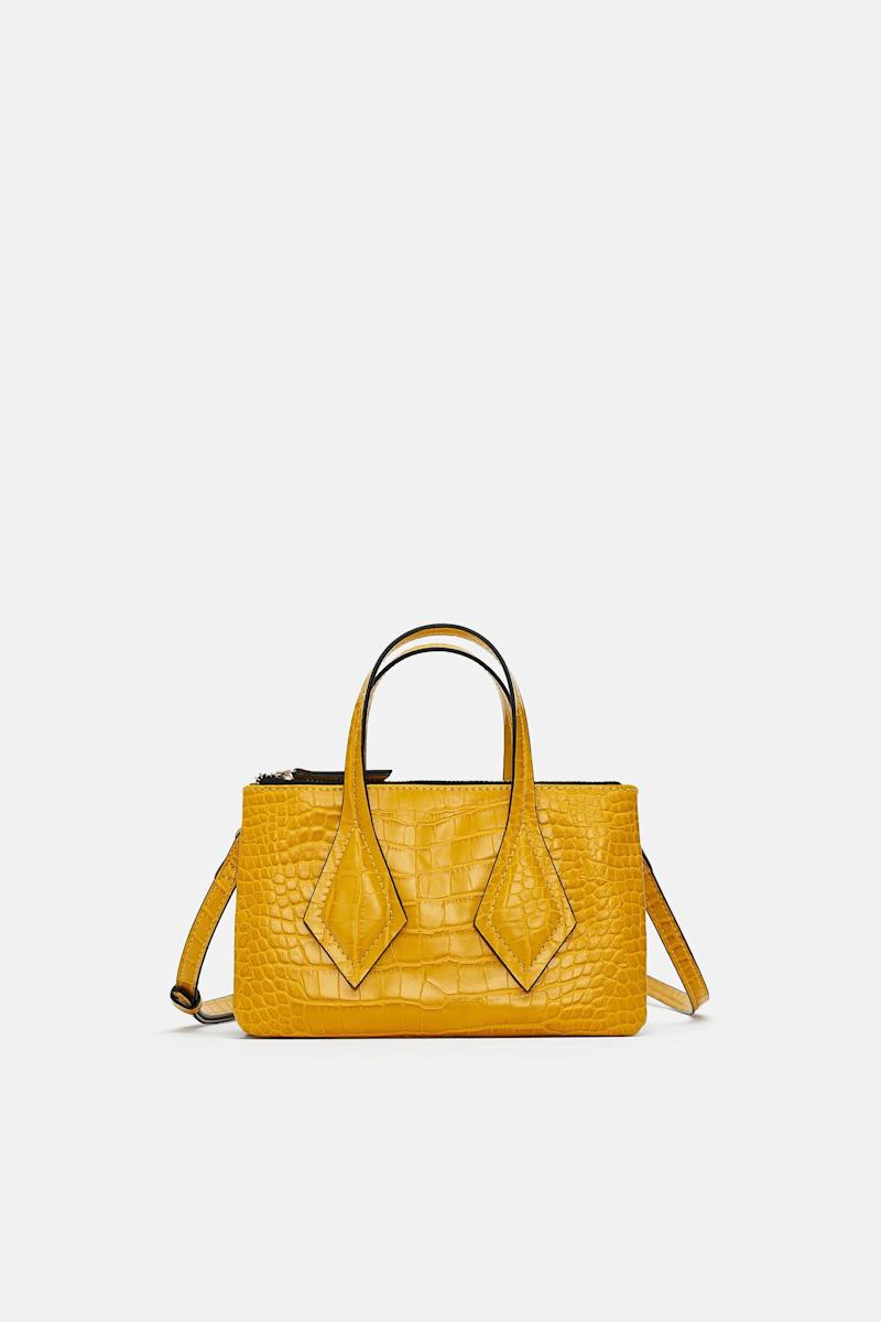 Embossed Mini Shopper Bag with Clasp