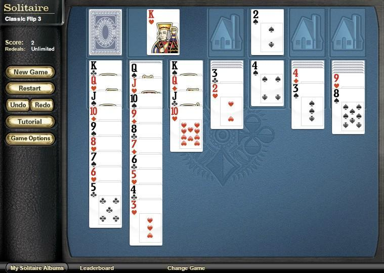 solitaire classic flip 3 game of the day