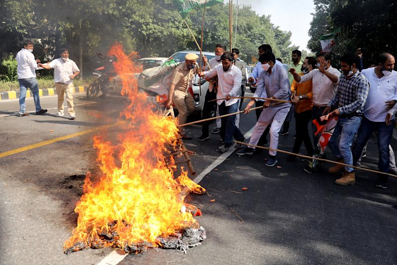 Protest after the death of a rape victim in New DelhiREUTERS