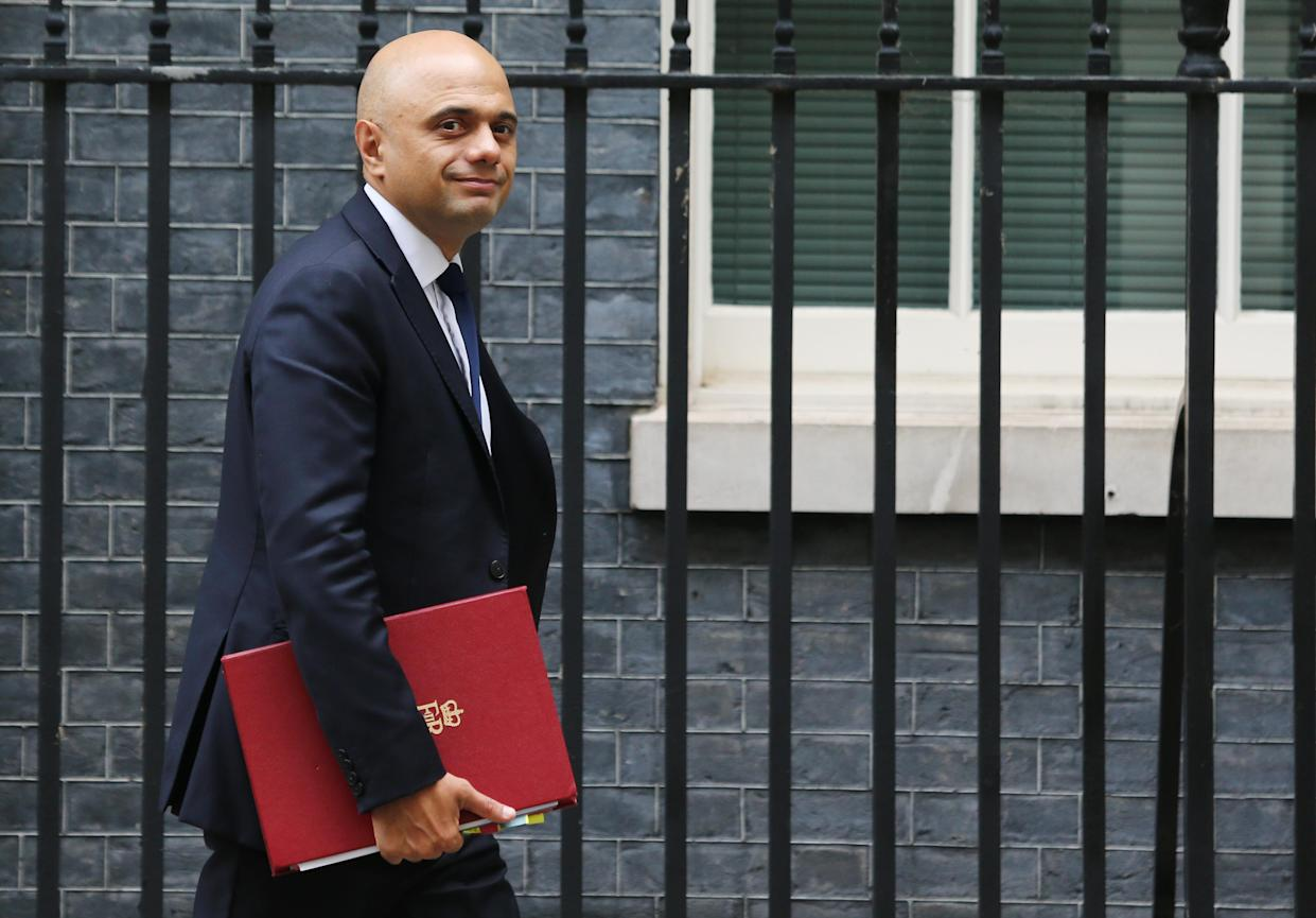 LONDON, UNITED KINGDOM - JULY 7: UK Secretary of State for Health and Social Care Sajid Javid is seen leaving 10 Downing Street in London, England on July 7 2021. (Photo by Tayfun Salci/Anadolu Agency via Getty Images)