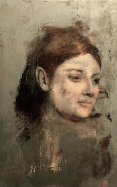 """The """"hidden portrait"""" of Emma Dobigny by the painter Edgar Degas, revealed by advanced X-ray flourescence and image processing techniques by researchers in Australia."""