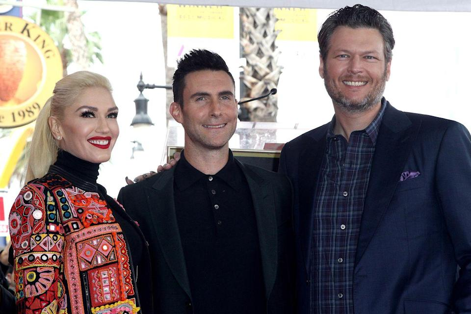 "<p><em>The Voice </em>co-star Adam Levine opens up about Blake and Gwen's love on <a href=""http://www.justjared.com/2017/10/31/adam-levine-reveals-how-he-found-out-gwen-stefani-blake-shelton-were-dating/"" rel=""nofollow noopener"" target=""_blank"" data-ylk=""slk:Howard Stern's"" class=""link rapid-noclick-resp"">Howard Stern's</a> radio show. ""It's so funny. They found each other at really interesting times in their lives. It's really beautiful. Because it's in the public eye, a lot of people want to have their own bullshit opinions about it, but I'm, like, there. I see it every day. I have a pretty unique perspective on it, and it's real, man."" He also told Howard Stern the couple was ""so in love it's disgusting."" </p>"