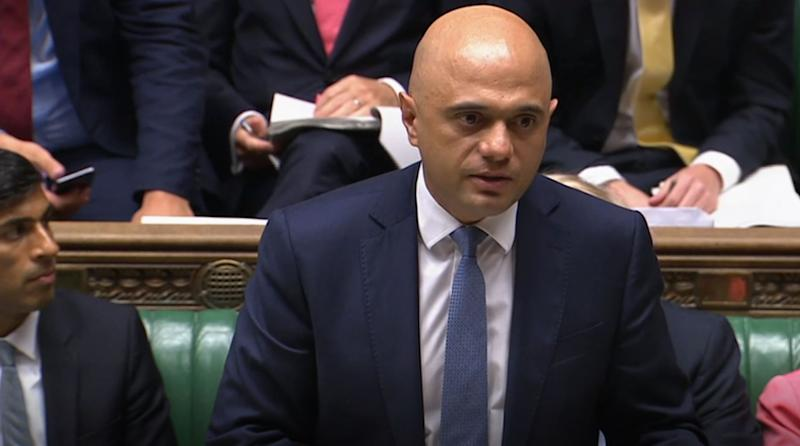 Chancellor of the Exchequer, Sajid Javid, makes a statement to Parliament confirming departmental budgets for 2020-21, in the House of Commons, London.