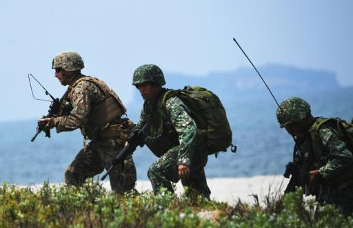 The bulked-up manoeuvres by US and Philippine troops included a live-fire component that was dropped last year