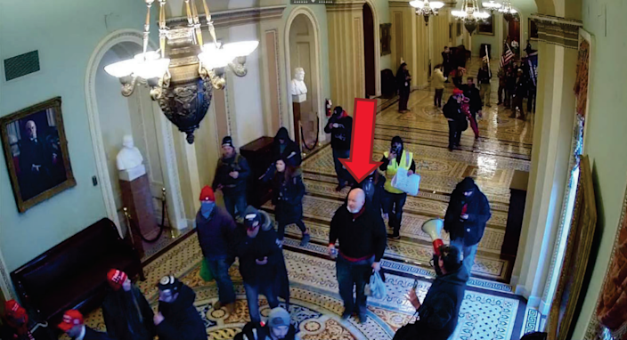 """The FBI says James """"Les"""" Little of Claremont was photographed inside the U.S. Capitol during the Jan. 6 breach by throngs of then-President Donald Trump's supporters."""