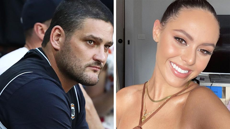 Brendan Fevola has spoken up in support of his stepdaughter Mia, after she was subjected to horrific abuse after taking a new relationship public. Pictures: Getty Images/Instagram