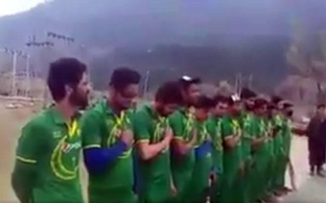 Kashmir: Local cricket team, clad in Pakistan's national colours, sings country's anthem