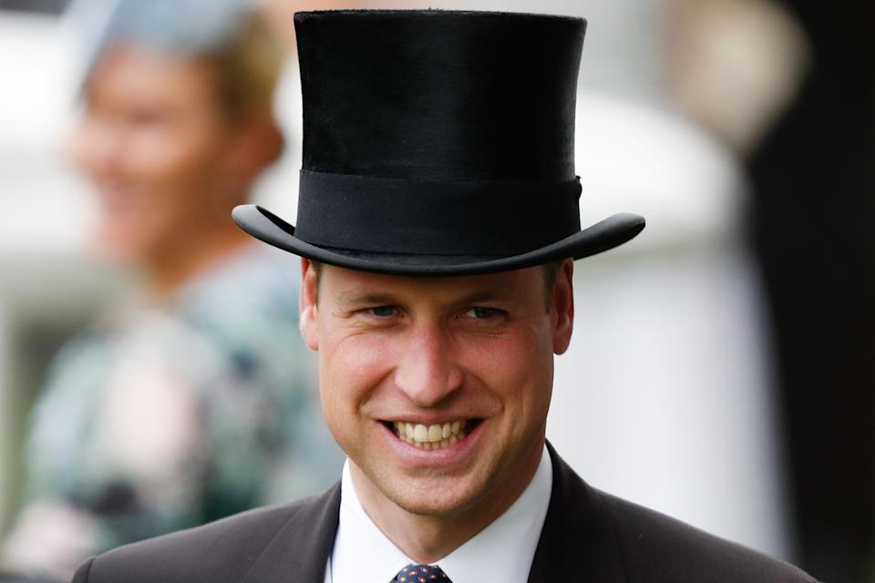 Britain's Prince William, Duke of Cambridge, attends on day one of the Royal Ascot horse racing meet, in Ascot, west of London, on June 18, 2019. - The five-day meeting is one of the highlights of the horse racing calendar. Horse racing has been held at the famous Berkshire course since 1711 and tradition is a hallmark of the meeting. Top hats and tails remain compulsory in parts of the course while a daily procession of horse-drawn carriages brings the Queen to the course. (Photo by Adrian DENNIS / AFP)        (Photo credit should read ADRIAN DENNIS/AFP/Getty Images)