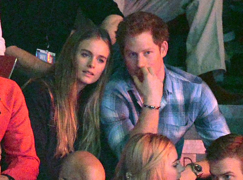 HRH Prince Harry and Cressida Bonas at WE Day, Wembley Arena, London.