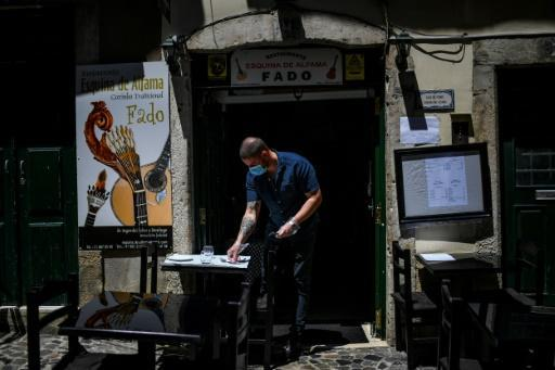 Lisbon has started opening up but the restaurants in the Alfama district remain quiet