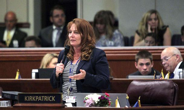 PHOTO: In this June 1, 2015, file photo, Nevada Assembly women, Marilyn Kirkpatrick speaks during the 78th Legislature, in Carson City, Nevada. (Lance Iversen/AP, FILE)