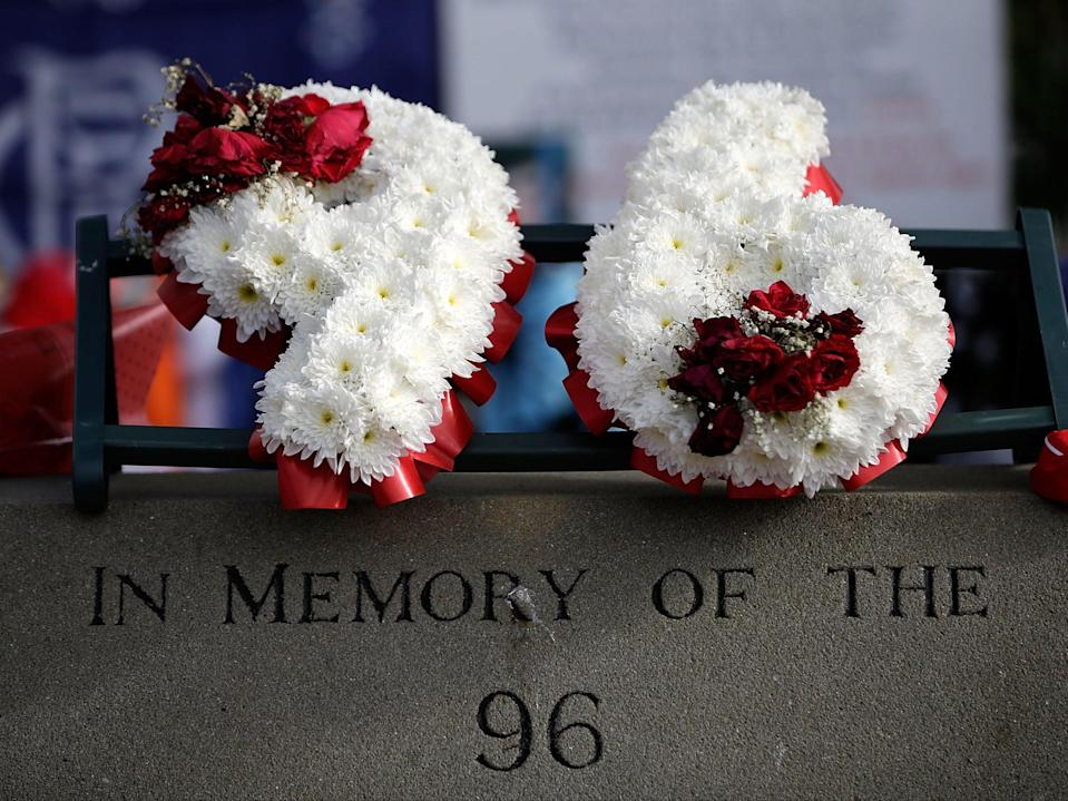 Tributes are placed at Sheffield Wednesday's Hillsborough stadium (Getty Images)