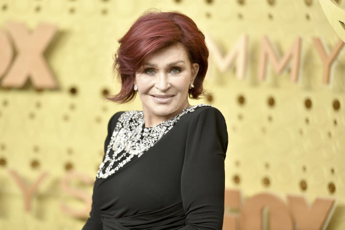 Sharon Osbourne arrives at the 71st Primetime Emmy Awards on Sunday, Sept. 22, 2019, at the Microsoft Theater in Los Angeles. (Photo by Richard Shotwell/Invision/AP)