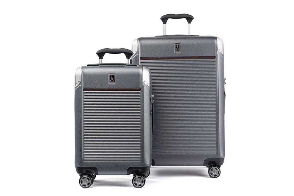 Carry-on hardside and medium check-in bag