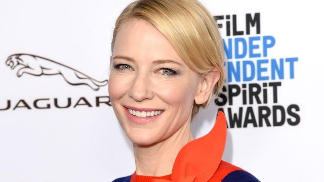 """Cate Blancett tells ET what it's like being Marvel's first female villain, and why Chris Hemsworth is a """"saint."""""""