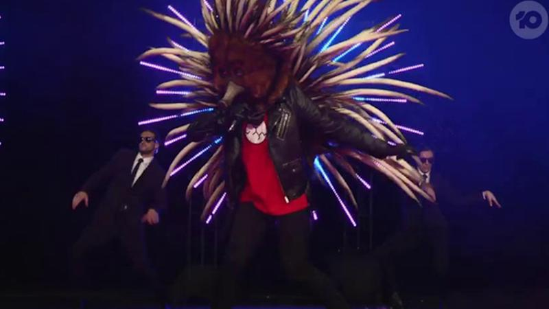 The Masked Singer's Echidna was the first to be revealed. Photo: Ten