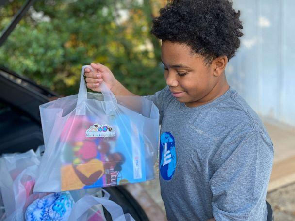 CJ Matthews, 13, started Blankets 4 My Buddies to donate blankets to kids  in need during the COVID-19 pandemic.  (Kristen Matthews)