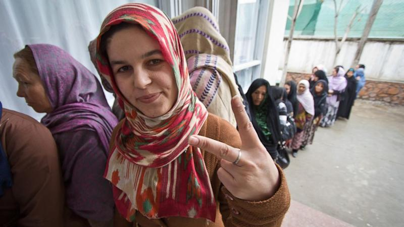 Afghans Turn Out in Droves for Historic Elections