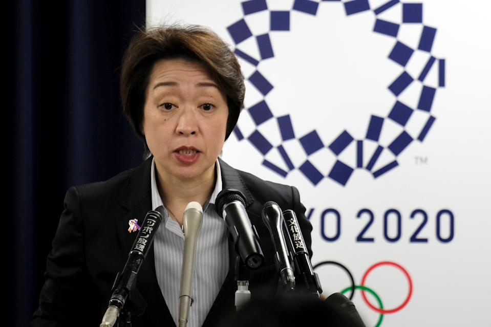Seiko Hashimoto, Minister for the Tokyo Olympic and Paralympic Games, said they will go on 'at any cost.' (Photo by KAZUHIRO NOGI/AFP via Getty Images)