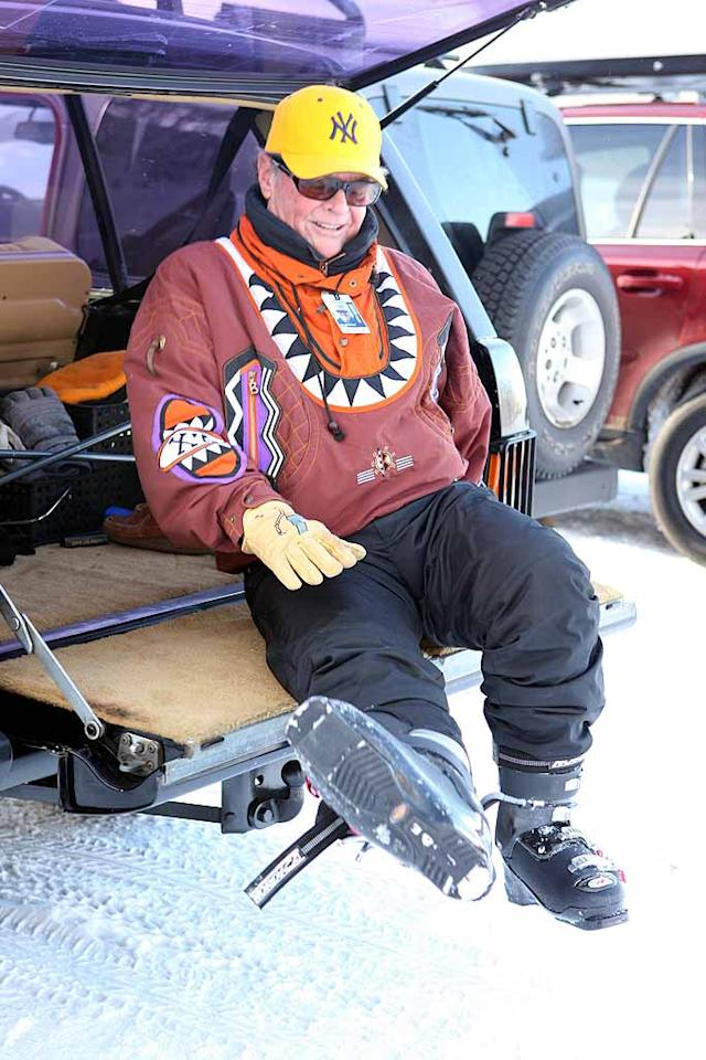 """Jack Nicholson also hit the slopes at the Colorado vacation spot, donning a hard-to-miss yellow Yankees cap and equally eye-catching parka. <a href=""""http://www.x17online.com"""" target=""""new"""">X17 Online</a> - December 29, 2007"""