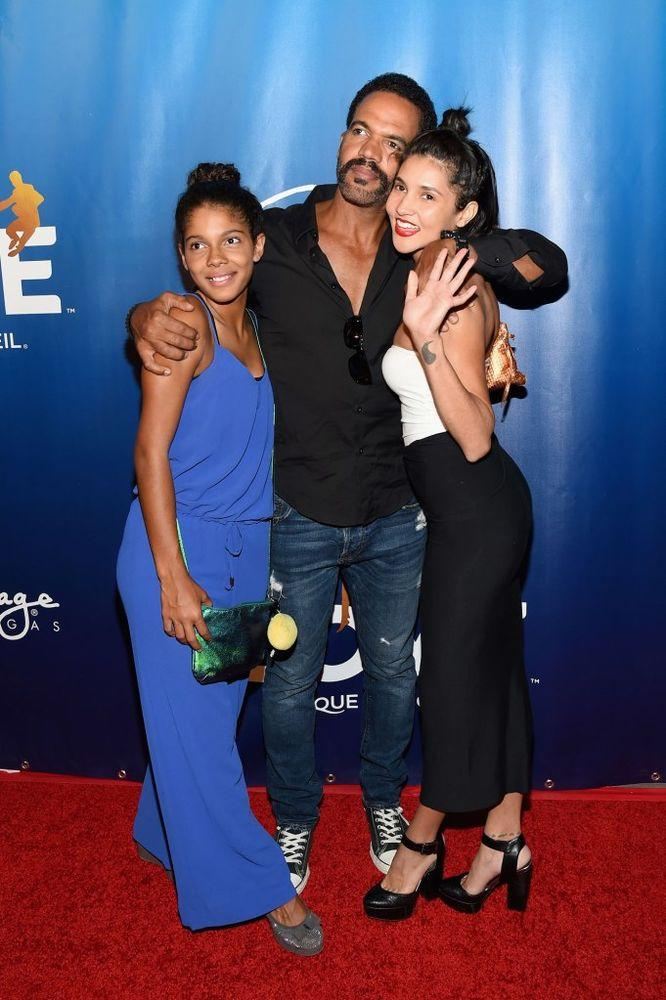 Kristoff St. John with daughters Lola and Paris