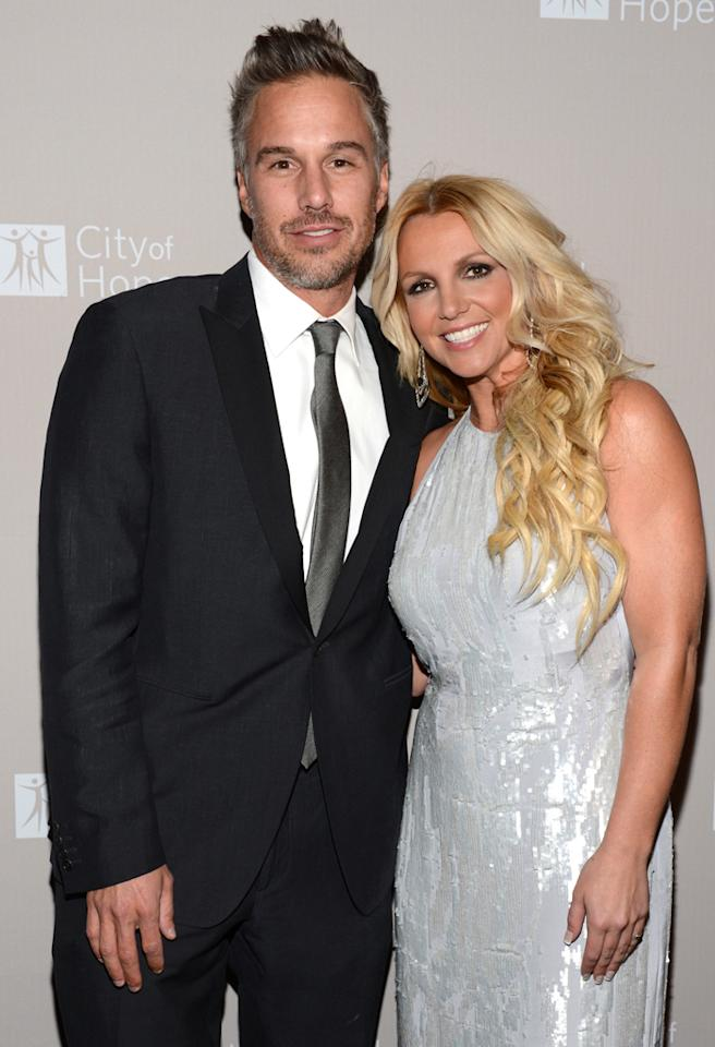LOS ANGELES, CA - OCTOBER 10:  Jason Trawick and Britney Spears attend City Of Hope Honors Halston CEO Ben Malka With Spirit Of Life Award - Red Carpet at Exchange LA on October 10, 2012 in Los Angeles, California.  (Photo by Michael Kovac/Getty Images for City of Hope)