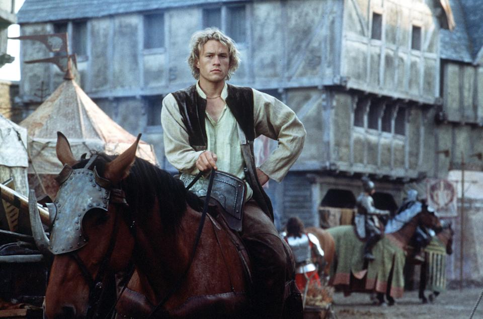 """385099 13: Actor Heath Ledger stars as William Thatcher in Columbia Pictures """"A Knight's Tale."""" (Photo by Egon Endrenyi/Columbia Pictures/Sony Pictures)"""