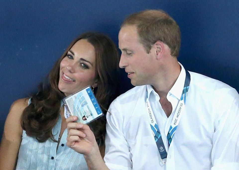 <p>Will fans his wife during the Commonwealth games in Scotland.<br></p>