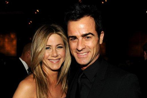 Actress Jennifer Aniston and actor-screenwriter Justin Theroux at the Annual Directors Guild Of America Awards cocktail reception in Hollywood in January. Aniston is engaged to her boyfriend Theroux, his publicist announced