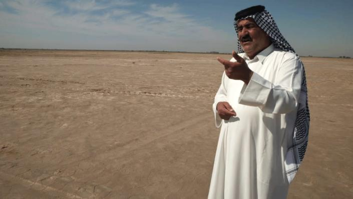 Photo of Sheikh Kazem Al Kaabi at home in central Iraq