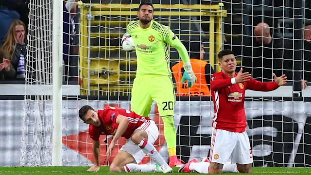 Manchester United were left with work to do after Leander Dendoncker rescued a 1-1 draw for Anderlecht in the Europa League quarter-finals.