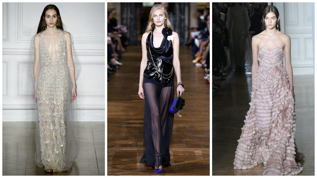 <p>Her stylist of eight years, Petra Flannery, loves playful, fashion-forward silhouettes, so our bet is on either an uber glam cowl neck gown by Lanvin with a slinky sheer skirt or one of Valentino's romantic Spring couture creations. They've got winner written all over them. </p>