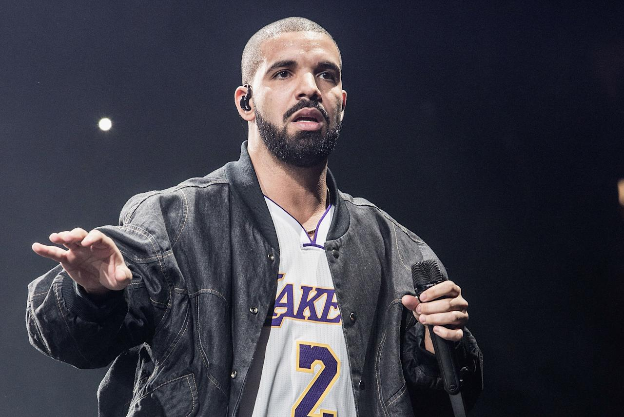 """<p>Drake must """"Take Care"""" of his thick brows; they look like a painter's perfectly graduated brushstroke, and strongly complement his dark beard and mustache.</p> <p><a rel=""""nofollow"""" href=""""http://www.gq.com/story/eyebrow-grooming?mbid=synd_yahoobeauty%20"""">RELATED: The Lazy Man's Guide to Eyebrow Grooming</a></p>"""