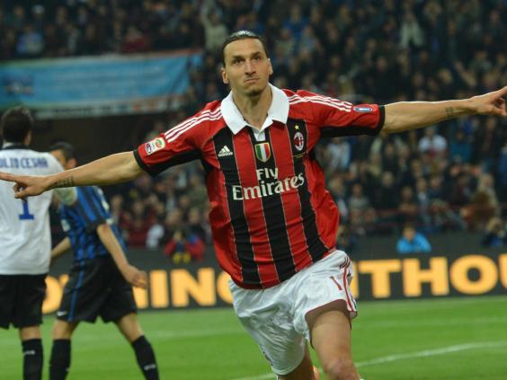 Zlatan Ibrahimovic in his AC Milan days (AFP via Getty Images)