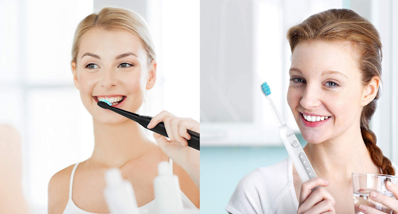 Amazon's Fairywill Sonic Powered Electric Toothbrush is on sale now. Images via Amazon.