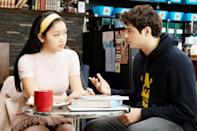 "<p>Cute and charming from the beginning, Peter Kavinsky wastes no time stealing Lara Jean's heart. But when the thoughtful and sophisticated John Ambrose, a recipient of one of Lara Jean's love letters, enters the picture in <a href=""https://www.popsugar.com/entertainment/to-all-boys-ps-i-still-love-you-blooper-reel-video-47285781"" class=""link rapid-noclick-resp"" rel=""nofollow noopener"" target=""_blank"" data-ylk=""slk:To All The Boys: P.S. I Still Love You""><strong>To All The Boys: P.S. I Still Love You</strong></a>, things start to get complicated. From kissing in the hot tub to crying enough tears to fill said hot tub, Lara Jean learns just how unpredictable love can be.</p>"