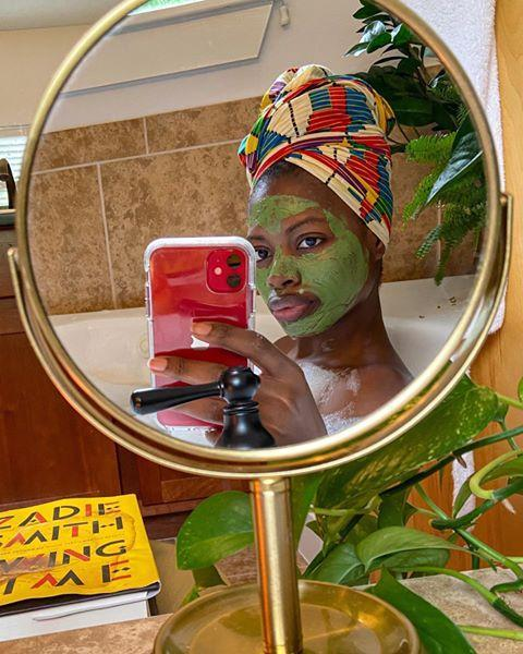 "<p>Combine your self-care selfie and your mirror selfie into one, and you've got yourself a post worthy of all the likes. Who doesn't love a face mask and a relaxing bath?!</p><p><a href=""https://www.instagram.com/p/B-DDuitB9js/?utm_source=ig_embed&utm_campaign=loading"" rel=""nofollow noopener"" target=""_blank"" data-ylk=""slk:See the original post on Instagram"" class=""link rapid-noclick-resp"">See the original post on Instagram</a></p>"