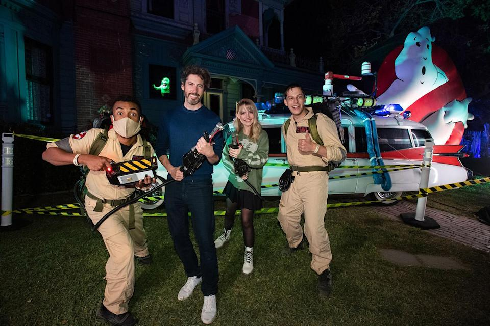 """<p>proving they ain't afraid of no ghosts at Freeform's 2021 Halloween Road event in celebration of """"31 Nights of Halloween"""" in L.A. on Oct. 1.</p>"""