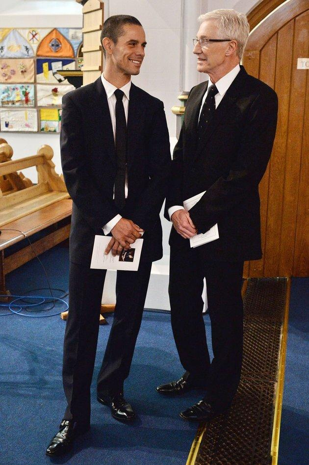 Paul and Andre in 2015, at Cilla Black's funeral