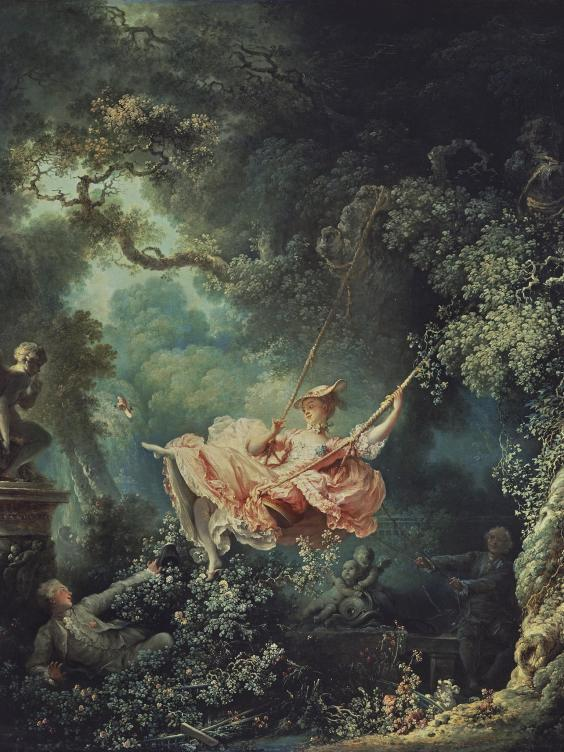 'The Swing' by the French painter Jean-Honoré Fragonard (dated 1767)